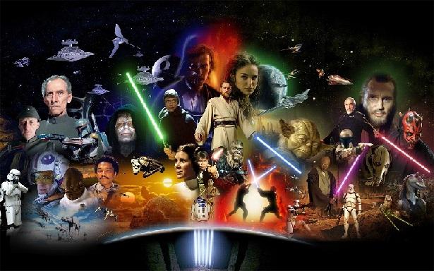 На фото герои фантастической кинокартины звездные войны